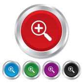 Magnifier glass sign icon. Zoom tool. Navigation — Stock Photo