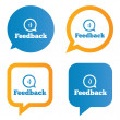 Feedback speech bubbles with smile. — Stock Photo