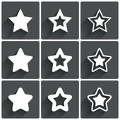 Star icons. Rating stars symbols. Feedback rating. — Stock Photo