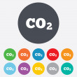 CO2 carbon dioxide formulsign icon. Chemistry — Stock Vector #39576195