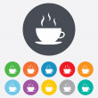 Coffee cup sign icon. Hot coffee button. — Stock Vector #39576255