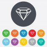Diamond sign icon. Jewelry symbol. Gem stone. — Stock Vector #39576485