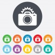 Photo camera sign icon. Photo flash symbol. — Stock Vector #39579255