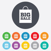 Big sale bag sign icon. Special offer symbol. — Stock Vector