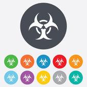 Biohazard sign icon. Danger symbol. — Stock Vector