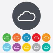 Cloud sign icon. Data storage symbol. — Vector de stock
