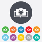 Front photo camera sign icon. Change symbol. — Stock Vector