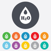 H2O Water drop sign icon. Tear symbol. — Stock Vector