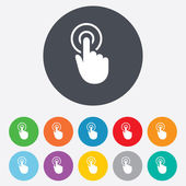 Hand cursor sign icon. Hand pointer symbol. — Stock Vector