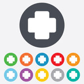 Medical cross sign icon. Diagnostics symbol. — Stockvector