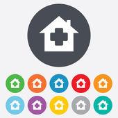 Medical hospital sign icon. Home medicine symbol — Stock Vector