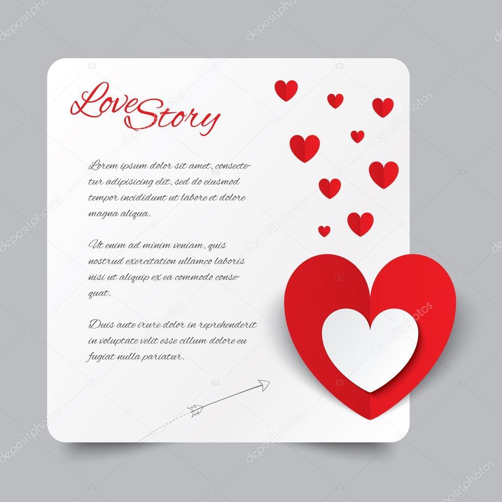 carte de saint valentin coeur papier rouge histoire d. Black Bedroom Furniture Sets. Home Design Ideas