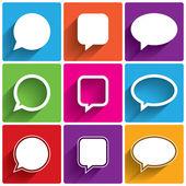 Speech bubble icons. Think cloud symbols. Vector — Stock Vector