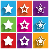 Star icons. Rating stars symbols. Feedback rating. — Stock Vector