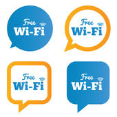 Wifi speech bubbles. Free wifi symbols. Wireless. — Stock Vector