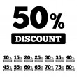 Sale discounts stamps. Special offer stickers. — Stock Photo #39676551