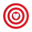 Paper heart in the center of darts target aim. — Stock Photo #39676555