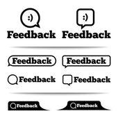 Rótulos de feedback. tags de feedback. guia de feedback. — Foto Stock