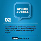 Speech bubble step background. For infographics — Stock Photo