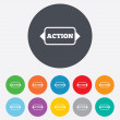 Action sign icon. Motivation button with arrow. — Stock Photo #39681475