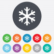 Snowflake sign icon. Air conditioning symbol. — Stock Photo #39681533