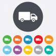 Delivery truck sign icon. Cargo van symbol. — Stock Photo