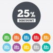 25 percent discount sign icon. Sale symbol. — Stock Photo #39682923