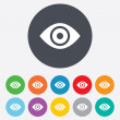 Eye sign icon. Publish content button. — Stock Photo #39684283