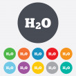 Stock Photo: H2O Water formulsign icon. Chemistry symbol.