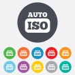 ISO Auto photo camera sign icon. Settings symbol — Stockfoto