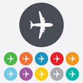 Segno di aeroplano. simbolo di aereo. icona di viaggio. — Foto Stock