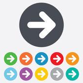矢印記号アイコン。次のボタン。ナビゲーション記号 — ストック写真