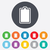 Battery fully charged sign icon. Electricity. — ストック写真