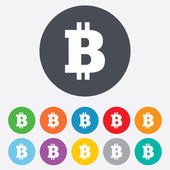 Bitcoin sign icon. Cryptography currency symbol — Stockfoto