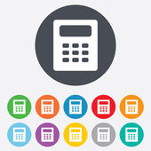 Calculator sign icon. Bookkeeping symbol. — Foto de Stock