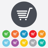 Shopping Cart sign icon. Online buying button. — Stock Photo