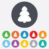 Noel ağacı işareti simgesi. tatil düğmesi. — Stok fotoğraf
