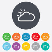 Cloud and sun sign icon. Weather symbol. — Stock Photo