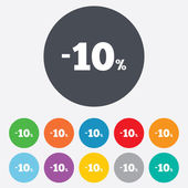 10 percent discount sign icon. Sale symbol. — Stock Photo