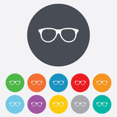Retro glasses sign icon. Eyeglass frame symbol. — Stock Photo