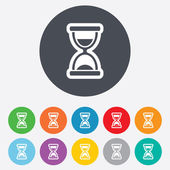 Hourglass sign icon. Sand timer symbol. — Stock Photo