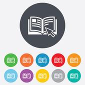 Instruction sign icon. Manual book symbol. — Stock Photo