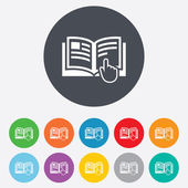 Instruction sign icon. Manual book symbol. — Stock Photo