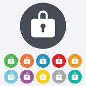 Lock sign icon. Locker symbol. — Stock Photo