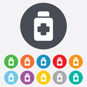 Drugs sign icon. Pack with pills symbol. — Stock Photo