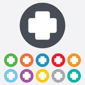 Medical cross sign icon. Diagnostics symbol. — Stock Photo