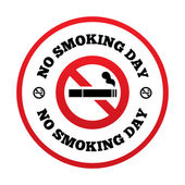 No smoking day sign. Quit smoking day symbol. — Stock Vector