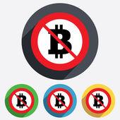 Ingen bitcoin tecken ikon. valutasymbolen för kryptografi — Stockvektor