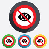 Do not look. Eye sign icon. Publish content. — Stock Vector