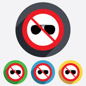 No glasses. Aviator sunglasses sign icon. — Stock Vector